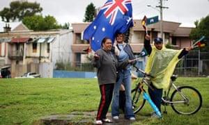 A group of Aboriginal Australians in Sydney