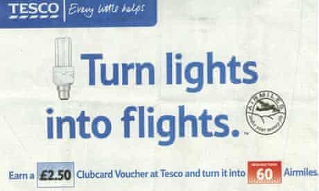 Tesco advert: 'turn lights into flights'