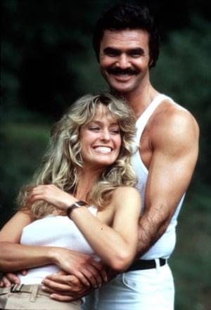 Farrah Fawcett: Farrah Fawcett & Burt Reynolds in 'The Cannonball Run' in 1981
