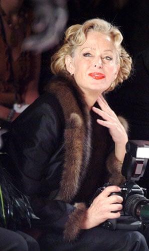 Farrah Fawcett: Farrah Fawcett at New York fashion week in 2004