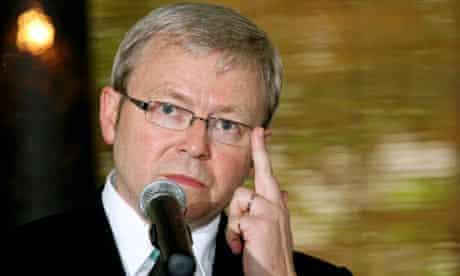 Australia's prime minister Kevin Rudd