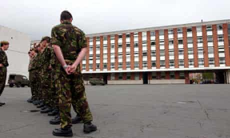 Parade ground at Chelsea Barracks in London