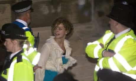 Tamsin Omond Climate Rush campaigner arrested outside the House of Commons