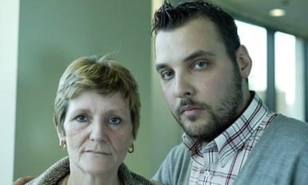 Ian Tomlinson's widow Julia and his son Paul