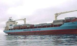 The Maersk Alabama cargo ship, seized by Somali pirates