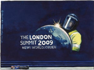 09.04.09: Steve Bell on G20 police assault on Ian Tomlinson