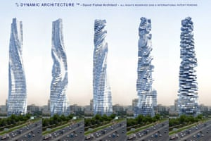 Green skyscrapers: Dynamic Tower: A rotating skyscraper that is to be built in Dubai