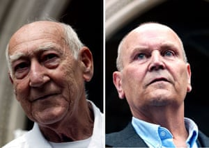 Miscarriages of justice: Reg Dudley (left) and Bob Marynard