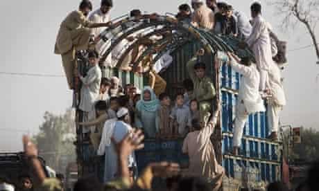 Refugees Flee Fighting in Swat
