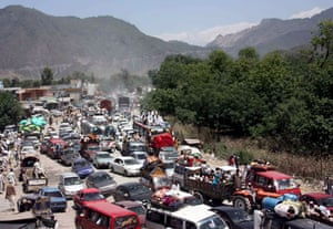 Pakistan Swat exodus: People flee Pakistan's Swat valley after a curfew was temporarily lifted