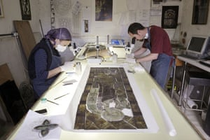Holy Well Glass: Holy Well Glass conservators