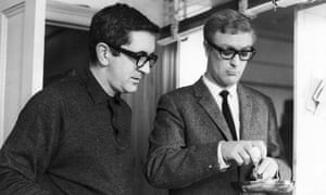 Len Deighton and Michael Caine on the set of The Ipcress File