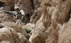 A US Marine on patrol in the Farah province of Afghanistan