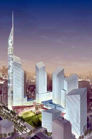 ground zero : Daniel Libeskind's proposed new World Trade Center site in 2003