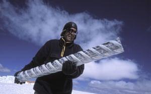 Climate change scientist : Global Warming: Vladimir Mikhalenko Quelccaya Ice Cap, Peru