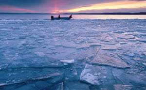 Climate change scientist : Global Warming: Katie Hein and Dave Harring on Lake Mendota