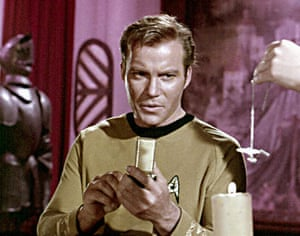 Star Trek technology: Captain Kirk (William Shatner) uses a communicator in Star Trek