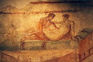 ancient erotica: Erotic frescoe from Pompeii