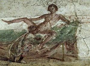 ancient erotica: Erotic fresco from Pompeii