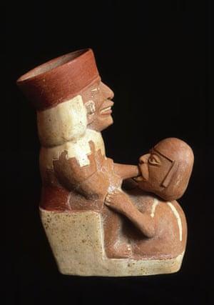 ancient erotica: Moche Pottery with Erotic Scene