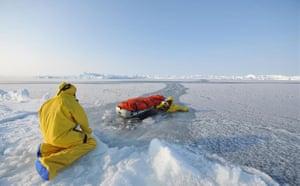 Catlin Arctic Survey: Crossing defrozen lead
