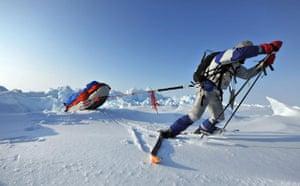 Catlin Arctic Survey: Pulling kit on ski