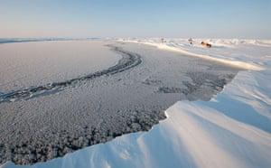 Catlin Arctic Survey: defrozen lead on ice sheet