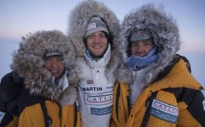 Catlin Arctic Survey:  Ann Daniels, Martin Hartley  and Pen Hadow