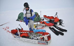 Catlin Arctic Survey: Pen Hadow  kit and tent