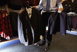 School uniforms: Superzise school uniforms accommodate growing waistlines.
