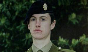 Private Geoff Gray, found dead at DEeepcut barracks.