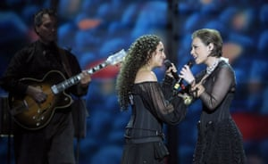 Eurovision finalists : Eurovision Song Contest Moscow 2009 Noa and Mira Awad of Israel