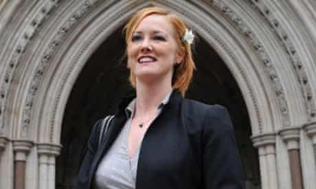 Heather Brooke outside the High Court in London