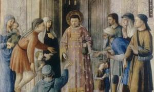 Saint Lawrence Distributing Alms-kindness