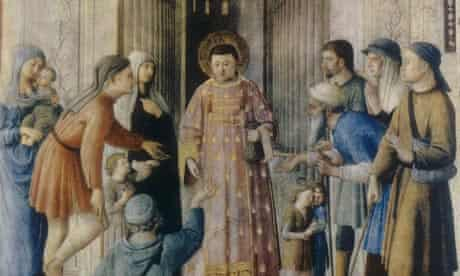 Saint Lawrence Distributing Alms-kindness