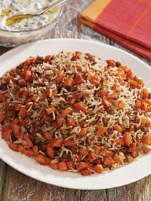 Iraqi cookbook - rice with carrots