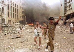 Tamil Tigers surrender: Massive Tamil Tiger bomb in Colombo 1996