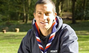 Bear Grylls in his scout outfit