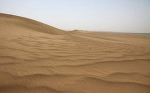 Minqin China: A sand dune in the Tengger desert