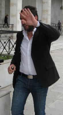 One of the men tailing Charlie Skelton during Bilderberg