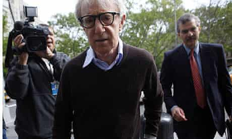 Woody Allen arrives at a New York federal courthouse in American Apparel case