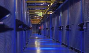 Server farm in San Jose, California