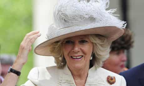 Camilla leaves Westminster Abbey