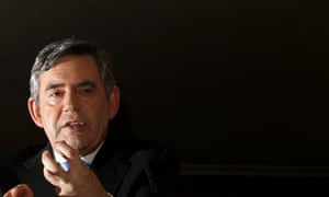 Gordon Brown at press conference in London