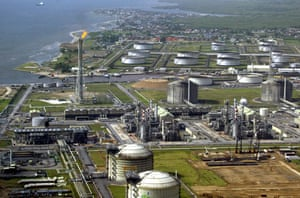Shell in the Niger Delta: Shell's oil and gas terminal on Bonny Island in Nigeria's Niger Delta.