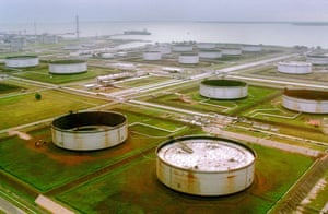 Shell in the Niger Delta: A Shell owned pumping site in the Niger Delta region of Nigeria.