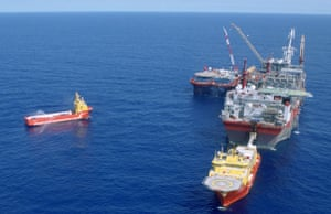 Shell in the Niger Delta: A Floating Production Storage and Offloading (FPSO) vessel at Bonga field.