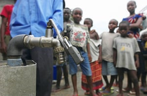 Shell in the Niger Delta: A privately owned water tap is locked in Port Harcourt, Nigeria