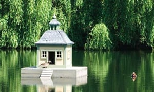 The Stockholm duck house sits in the property of Gosport MP Sir Peter Viggers