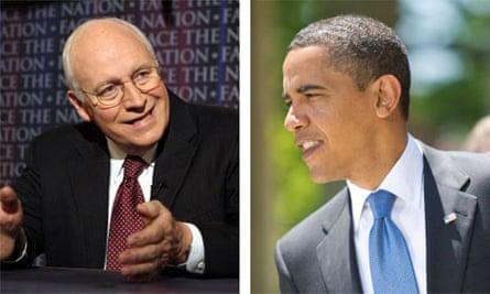 Dick Cheney and Barack Obama.